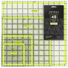 ARTEZA Acrylic Quilters Ruler & Non Slip Rings - Double-Colored Grid Lines 4....