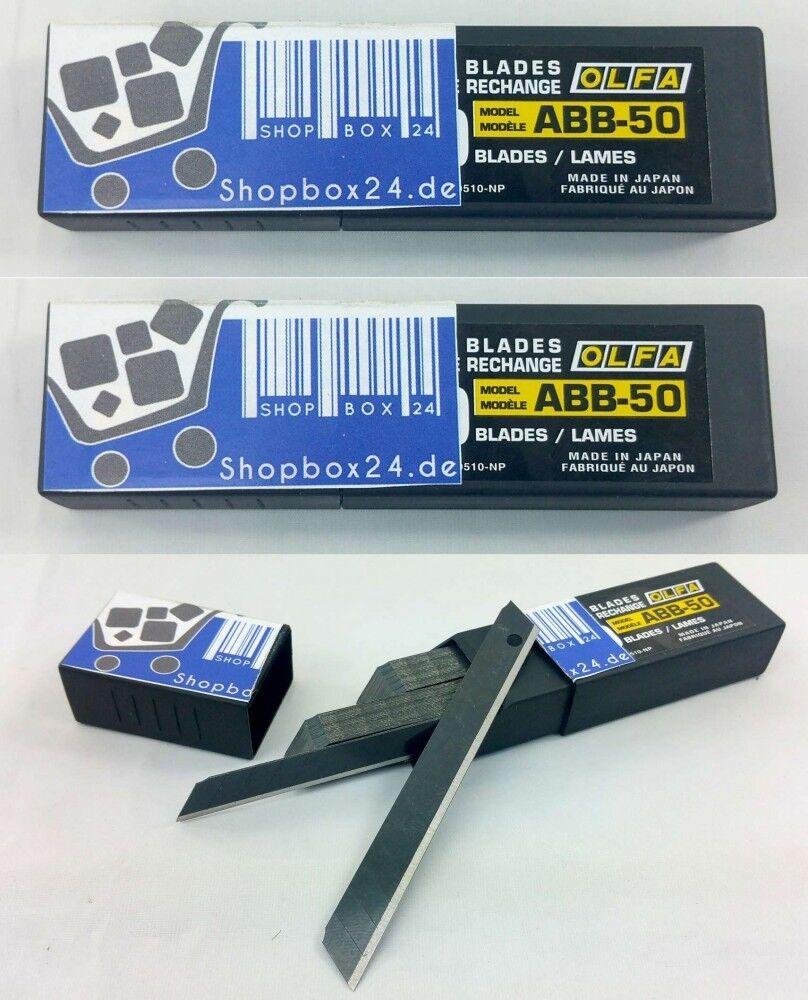 Aktion , 3 x Olfa Abbrech Klinge Ersatzklingen für Cuttermesser ABB-50 (50 tlg.)