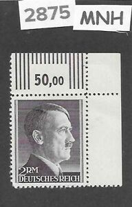MNH Adolph Hitler Third Reich stamp / 2RM / 1942-1944 / WWII Germany / Sc525a
