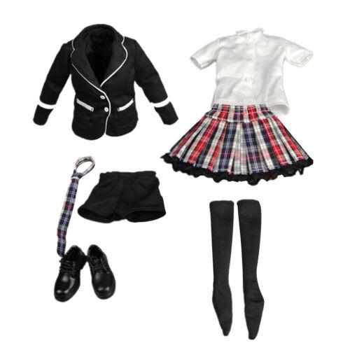 "1//6 Female School Uniform Outfit for 12/"" Kumik Phicen Hot Toys Action Figures"