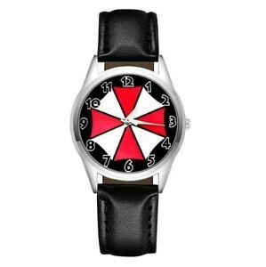 Montre à quartz NEUVE Bracelet Cuir ( Watch ) Resident Evil Umbrella Corporation