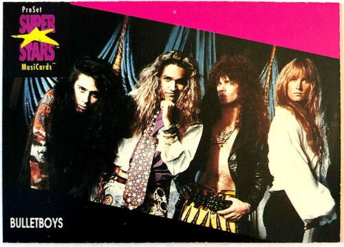 BULLETBOYS PROSET SUPERSTARS MUSICARDS 1991 USA 1st EDITION CARD 30Yrs OLD RARE