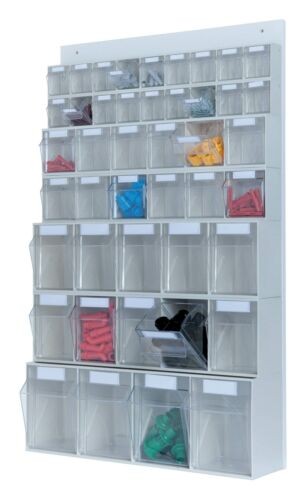 461118 Hünersdorff MultiStore Set 3 x 6 Schubladen PS glasklar lichtgrau