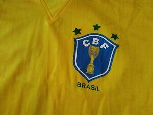 Vintage Brazil football top from Italia 90 VGC