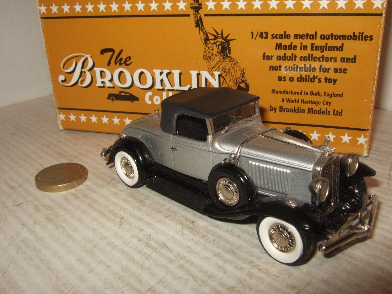 Raro Brooklin BRK 88 1931 Studebaker presidente Roadster Converdeible Escala 1 43.