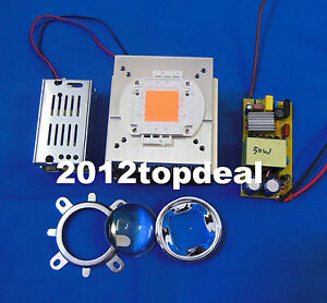 Details About 50w Diy Led Grow Light 380 840nm Kit Chip Driver Heatsink Cooling Fan Led Lens