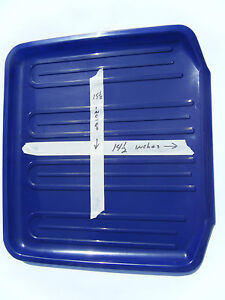 New Rubbermaid Dish Sink Drainer Tray Mat 1180 Cobalt Blue