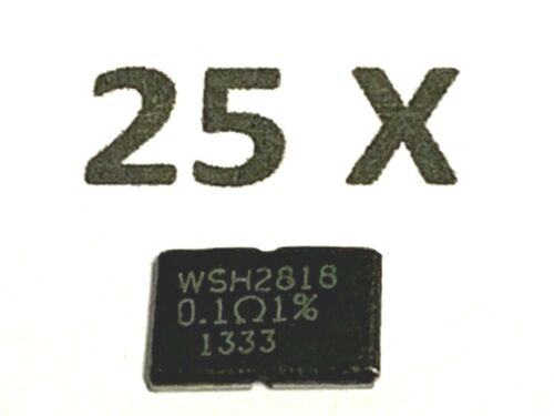 0,1r meßwiderstand 0,1 Ohm Vishay 75ppm 1/% 25 unités 5 W wsh2818r1000fea