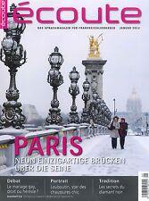 écoute, Heft Januar 01/2013: Paris - Französisch-Magazin +++ wie neu +++