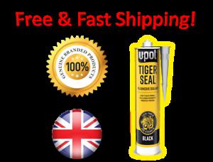 U-POL-Tiger-Sello-Negro-Sellador-De-Pegamento-Adhesivo-gt-Limitada-precio-especial