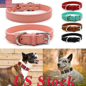 Adjustable-Small-Pet-Dog-Cat-Collar-Puppy-Multi-color-PU-Leather-Collars-Decors