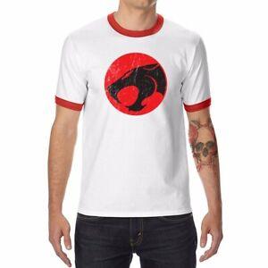 Funny-Thundercats-Logo-Men-039-s-T-Shirts-Ringer-Short-Sleeve-Cotton-Summer-Tops-Tee