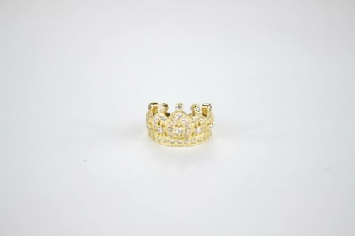 Authentic 10K or 14K Yellow or White Gold Crown Baby Ring Two Ring Sizes