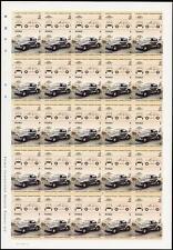 1949 MORRIS MINOR (MM) CAR Imperforate/Imperf Full 50-Stamp Sheet (1984 Tuvalu)