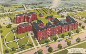 X-Omaha-NE-Bird-039-s-Eye-View-of-Creighton-Memorial-Hospital-and-Grounds