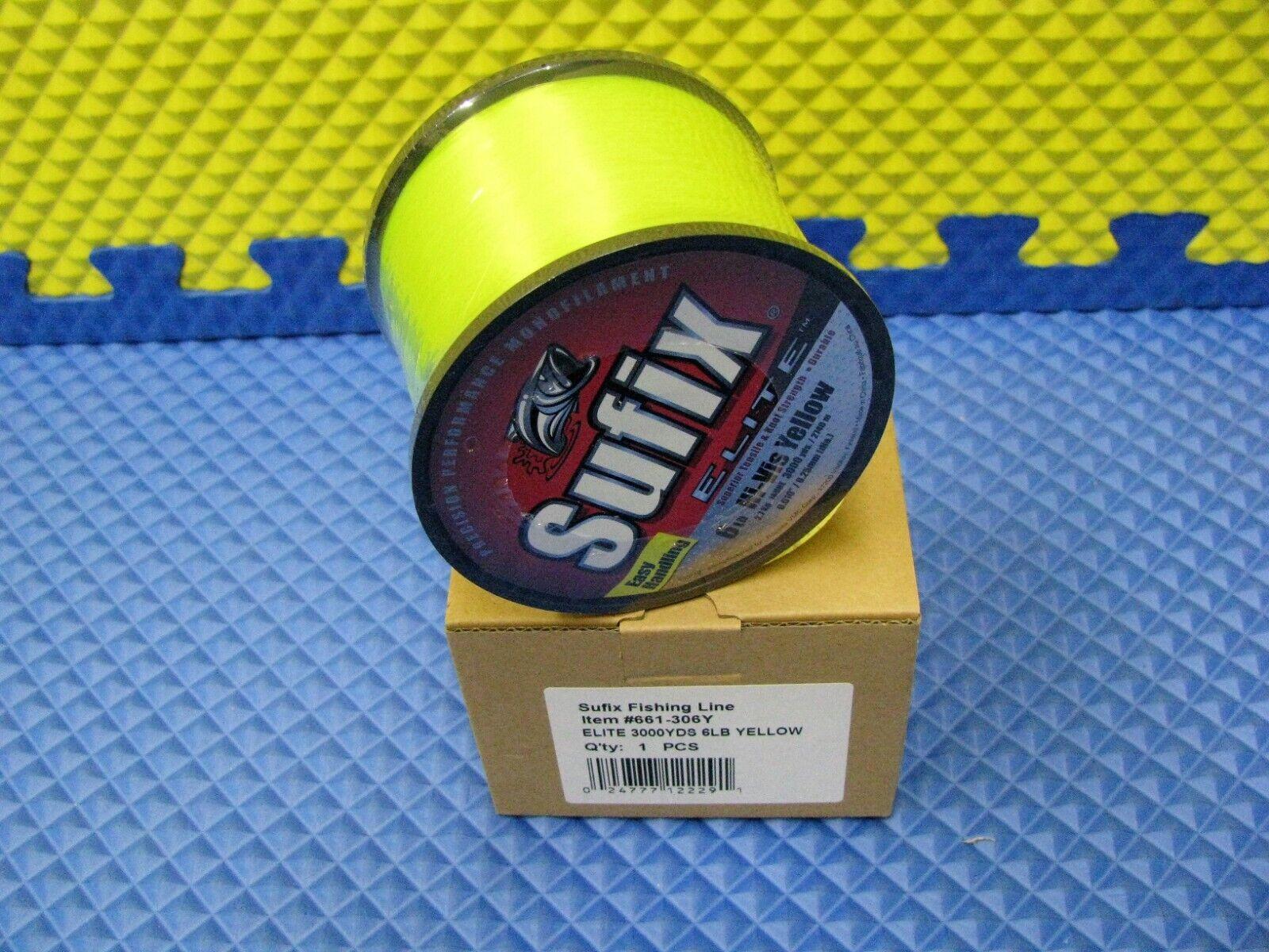 SUFIX Superior Monofilament Fishing Line 30Lb 1795Yd 1# Spool 0.55 Hi-Vis Yellow