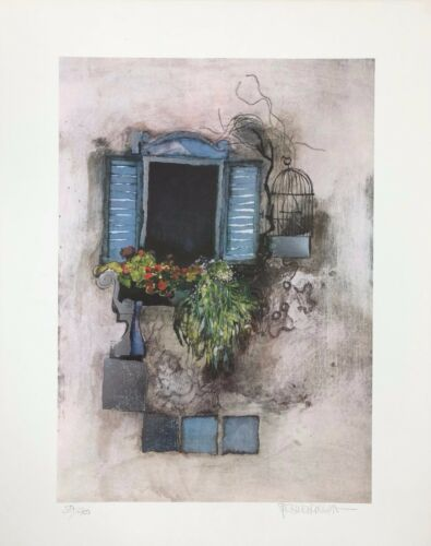 "Ltd Ed hand signed Rosina Wachtmeister /""Venetian Window/"" lithograph"