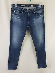 AG-Adriano-Goldschmied-The-Stilt-Womens-Denim-Blue-Jeans-Size-29-x-31-Skinny-Fit