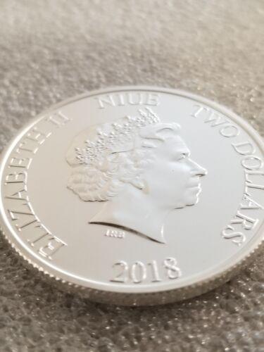 Disney Mickey Mouse 90 year anniversary 1 oz 999 Silver Coin 2 dollar 2018 frame