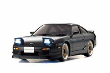 Kyosho Mini-Z MA020S AWD Black Nissan 180SX Aero with LED Lights - 32135BK-B