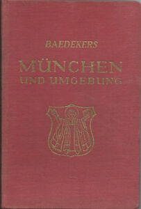 Baedeker-039-s-Guide-MUNCHEN-Munich-and-Environment-1950-2nd-Edition-3-Karten
