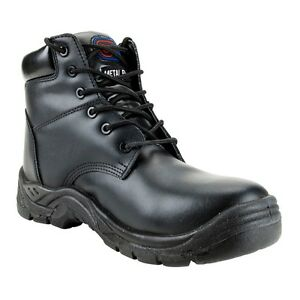Supertouch TOE LITE Black Leather Safety Work Boots Toe Cap Mid Sole Metal Free