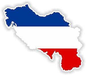 Jugoslawien Karte.Details Zu 1x Aufkleber Jugoslawien Silhouette Stoßstange Auto Karte Flagge Wasserdicht