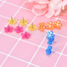 12pcs Multi Coloured Translucent Assorted Push Pins Drawing Cork Board Officyjgf