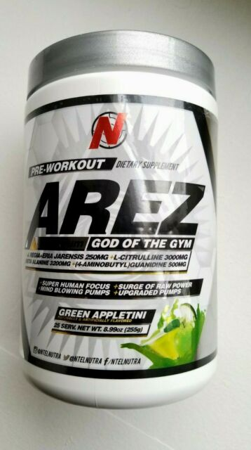 Ntel Pharma Arez Black 50 Servings God Of The Gym Old Formula
