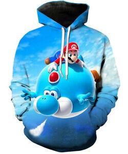 Super Mario Bros 3D Print Hoodies Men Women Casual  Pullover Sweatshirts Tops