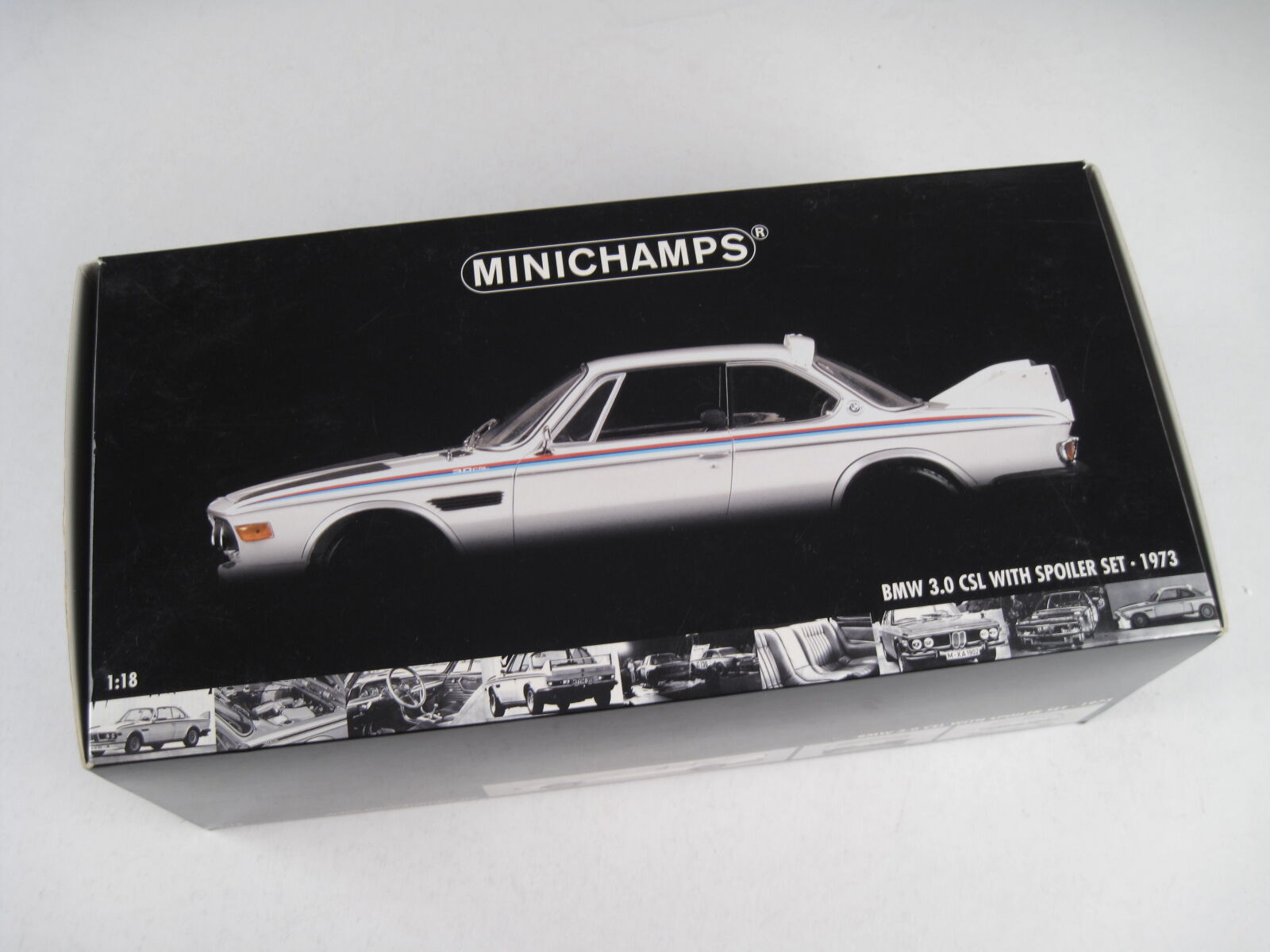 MINICHAMPS - BMW 3.0 CSL WITH SPOILER SET 1973 1 18 - NEW