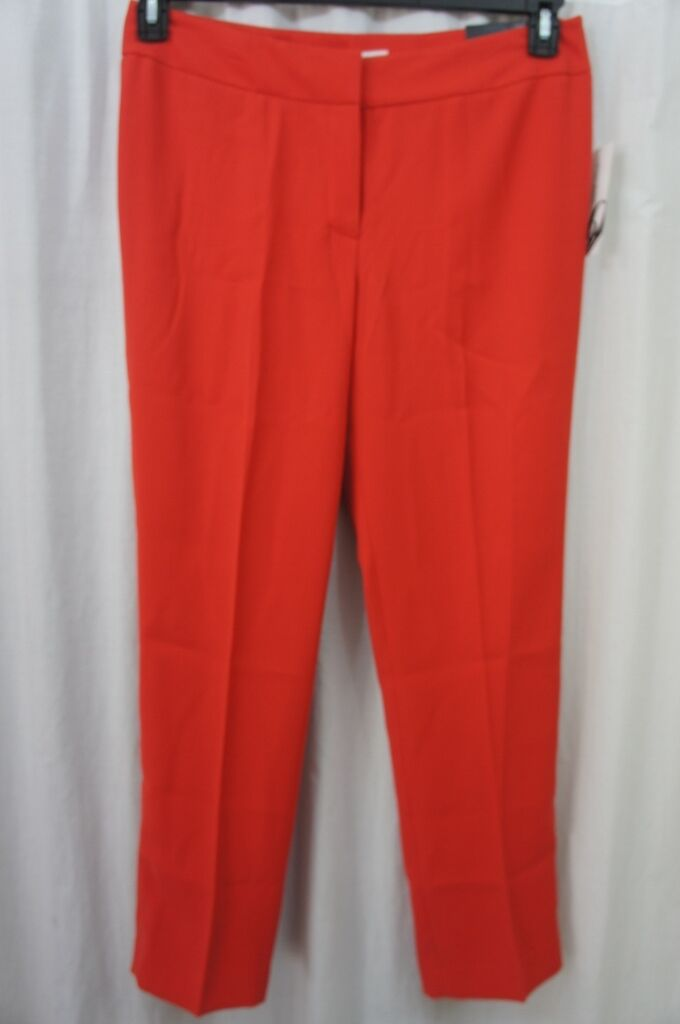 Nine West Suit Separates Pants Sz 10 Poppy Red The Skinny Pant Monte Carlo Work