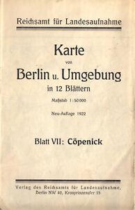 Wanderkarte, Berlin und Umgebung, Blatt VII, Cöpenick, 1922