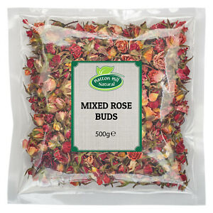 Dried Edible Mixed Rose Buds 500g - Free Delivery