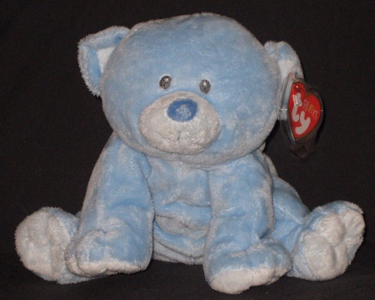 TY BABY WOODS blueE the BEAR PLUFFIES - MINT with MINT TAG