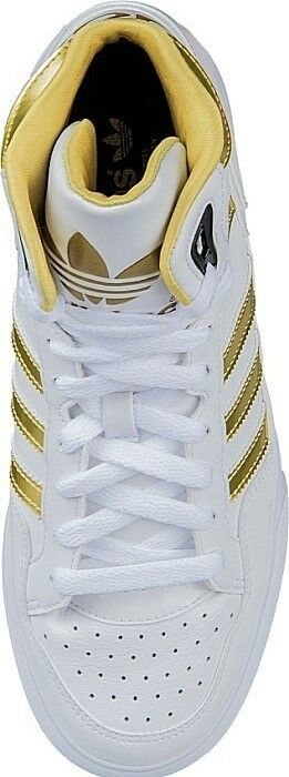 ADIDAS ORIGINALS EXTABALL Damenschuhe HIGH TOP TRAINERS Weiß 4.5 AND GOLD UK SIZE 4.5 Weiß 76ab22