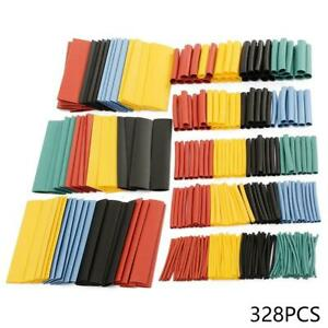 328pcs-Cable-Heat-Shrink-Tubing-Sleeve-Wire-Wrap-Tube-2-1-Assortment-Kit-Fast