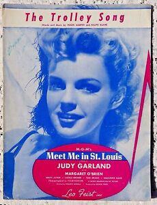 VINTAGE-SHEET-MUSIC-1944-THE-TROLLEY-SONG-MARTIN-amp-BLANE-1944-JUDY-GARLAND