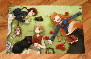 Spice and Wolf / Attack on Titan ( Shingeki no Kyojin ) Manga Anime Rare Poster