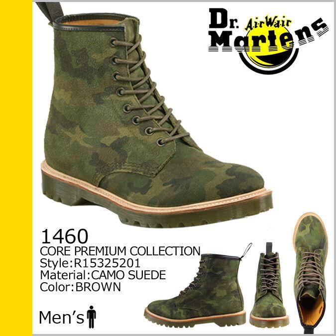 Dr Martens Men's 1460 verde Marronee Camouflage Suede 8-Eye stivali NIB, Dimensione 10 & 11