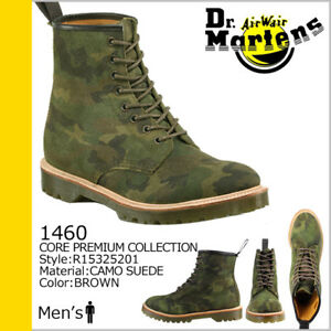 de6f15c32ba41 Dr Martens Men's 1460 Green Brown Camouflage Suede 8-Eye Boots NIB ...