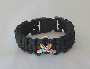 Image Is Loading Handcrafted Paracord Bracelet Autism Awareness Black Choose Your
