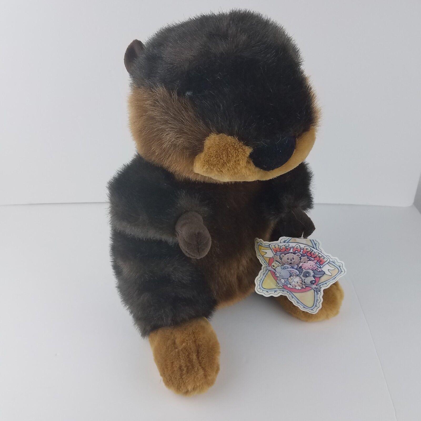 Commonwealth Toys Beaver Plush Stuffed Animal 15  Brown RARE HUG A PLUSH w TAG