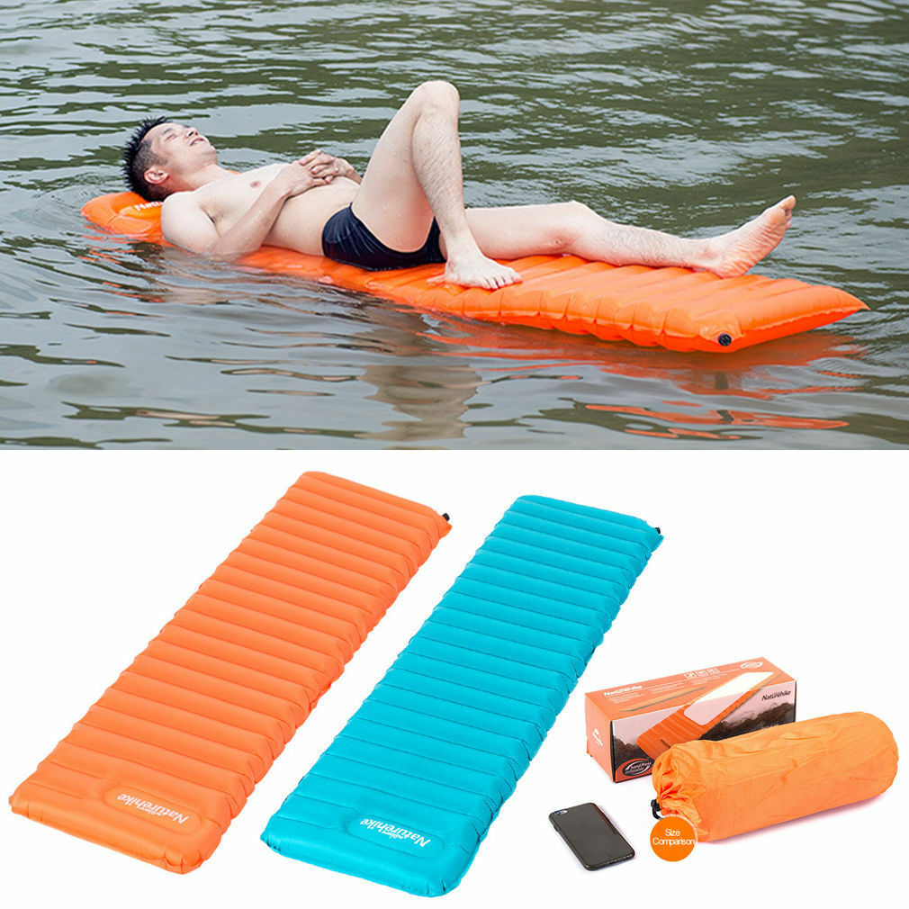 Manually Inflating Sleeping  Mattress Pad Camp Tent Air Bed Floating Platform Mat  official authorization
