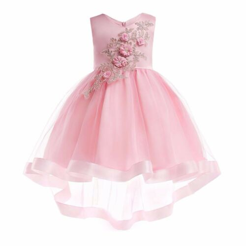 Girl Floral Bowknot Vest Sleeveless Princess Dresses Kids New Years Gift Outfits
