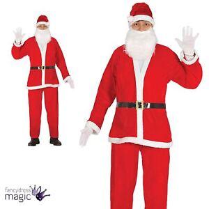 adulte de luxe Père Noël Noël Santa costume déguisement costume ... c919077da827