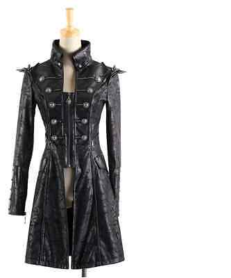 NEW PUNK Rave Gothic Vampire Heavy Metal Jacket Coat Y366 ALL STOCK IN AUSTRALIA