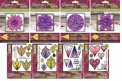 NEW 2017 Sheena Create A Flower Dies /& Stamps Die/'sire Crafters Companion