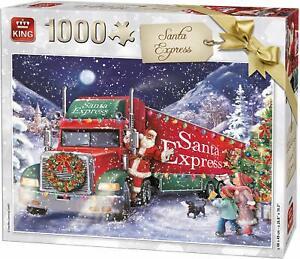NEW-King-Puzzles-Santa-Express-1000-piece-christmas-jigsaw-puzzle-05618