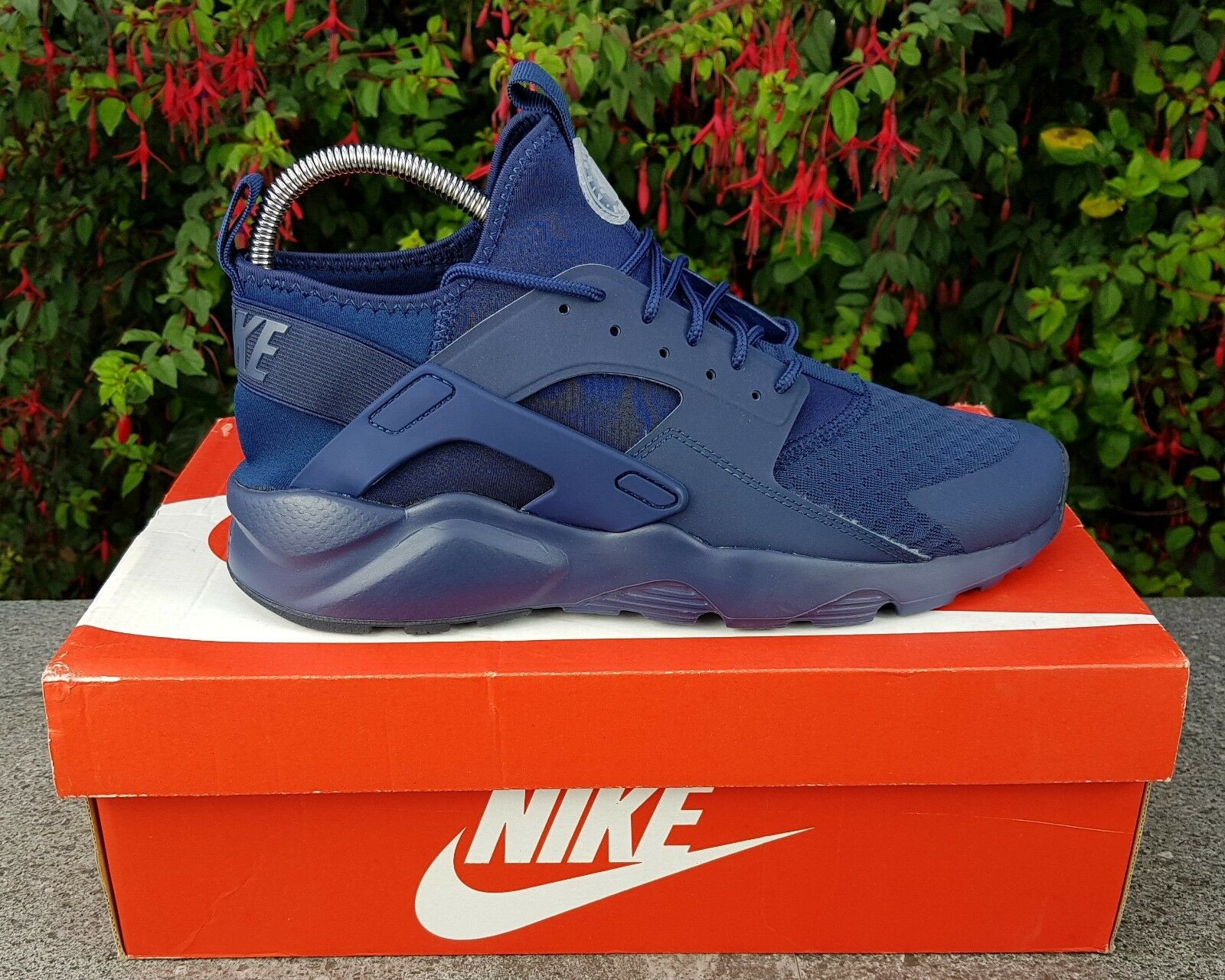 BNWB & Authentic Nike Air Huarache courir Ultra ® Navy Bleu Trainers UK